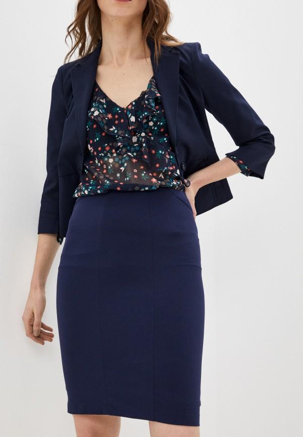 женская прямые юбка patrizia pepe, синяя