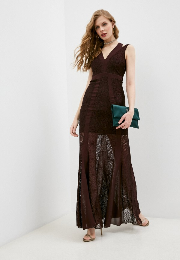 женское вечерние платье patrizia pepe, бордовое