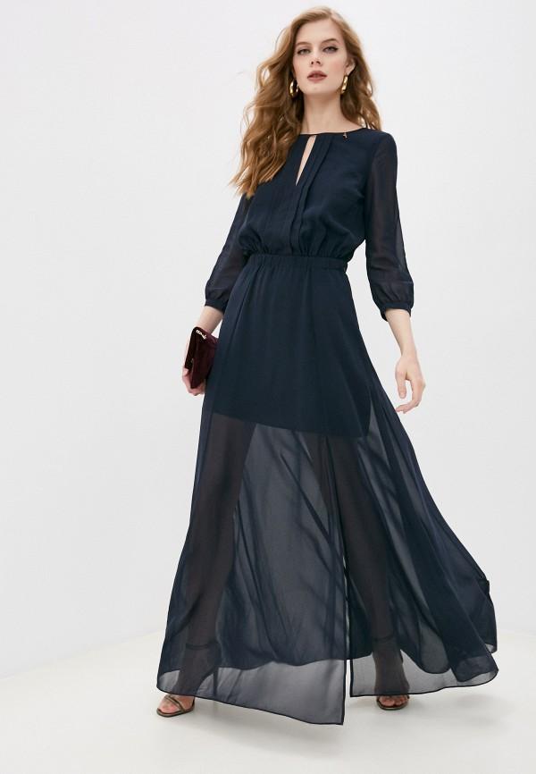 женское вечерние платье patrizia pepe, синее