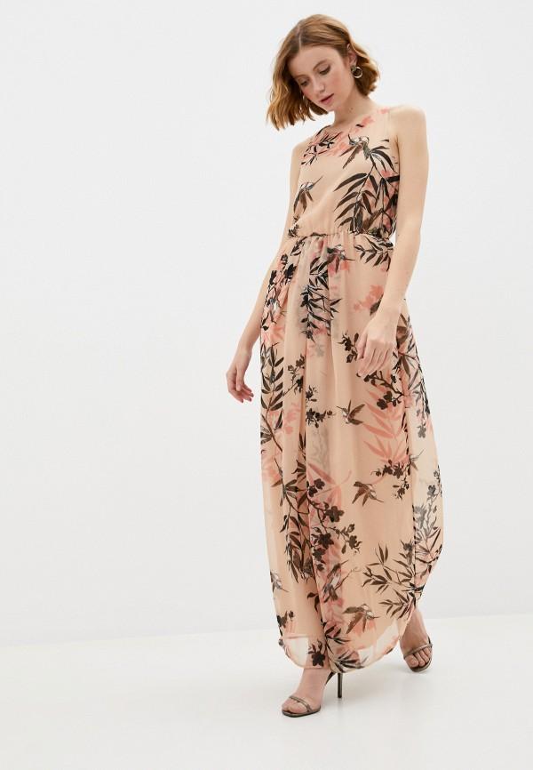 женское повседневные платье patrizia pepe, бежевое