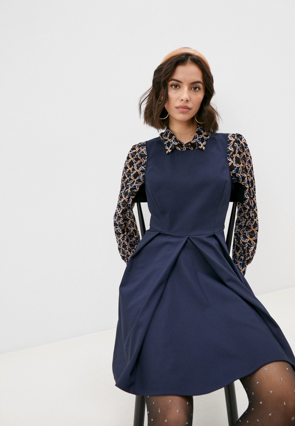 женское повседневные платье patrizia pepe, синее
