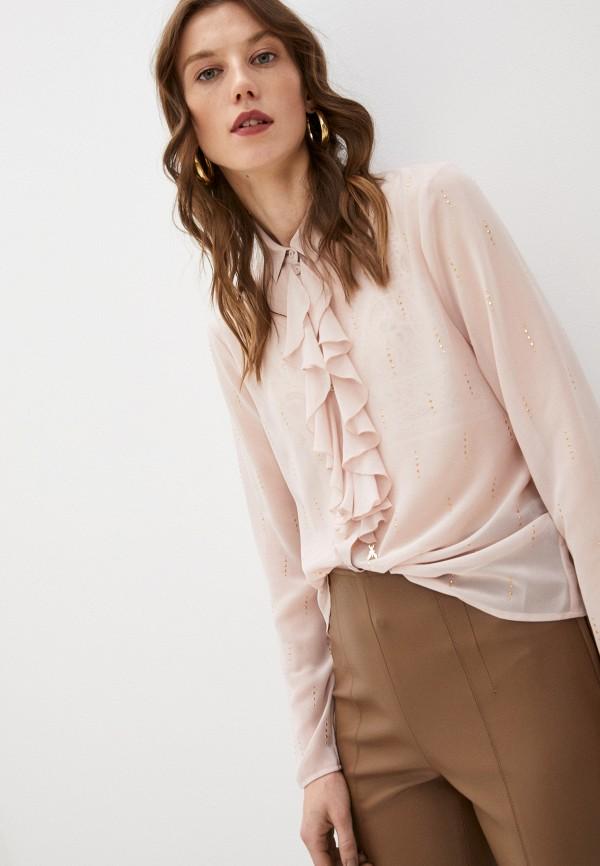 женская блузка patrizia pepe, розовая