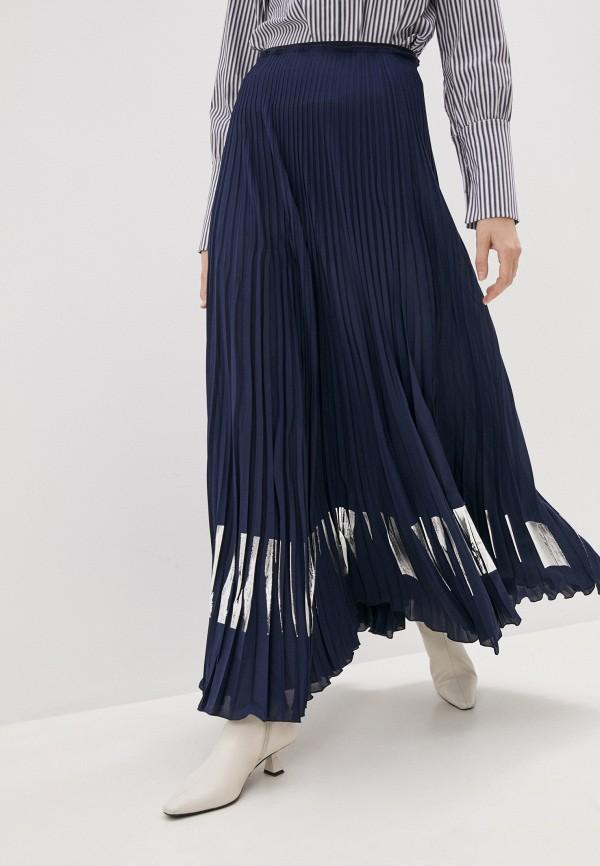 женская юбка patrizia pepe, синяя