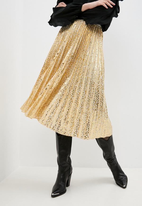 женская юбка patrizia pepe, золотая