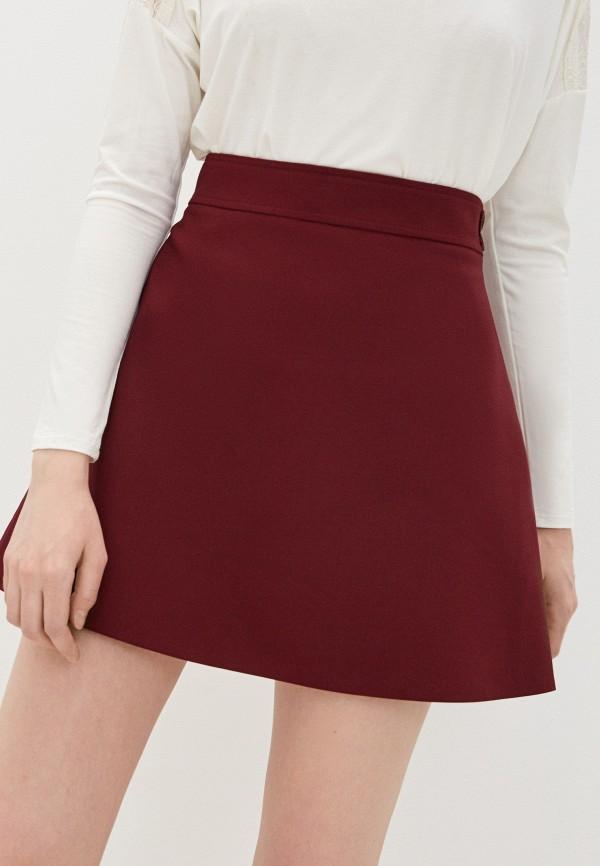 женская юбка patrizia pepe, бордовая