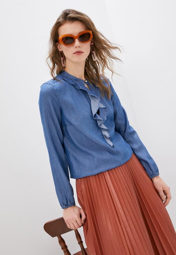 женская блузка patrizia pepe, синяя