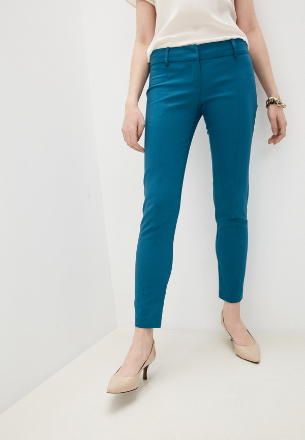 женские повседневные брюки patrizia pepe, бирюзовые