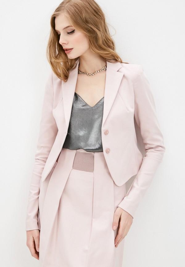 женский жакет patrizia pepe, розовый