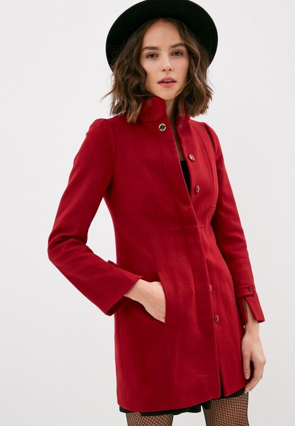 женское пальто patrizia pepe, красное