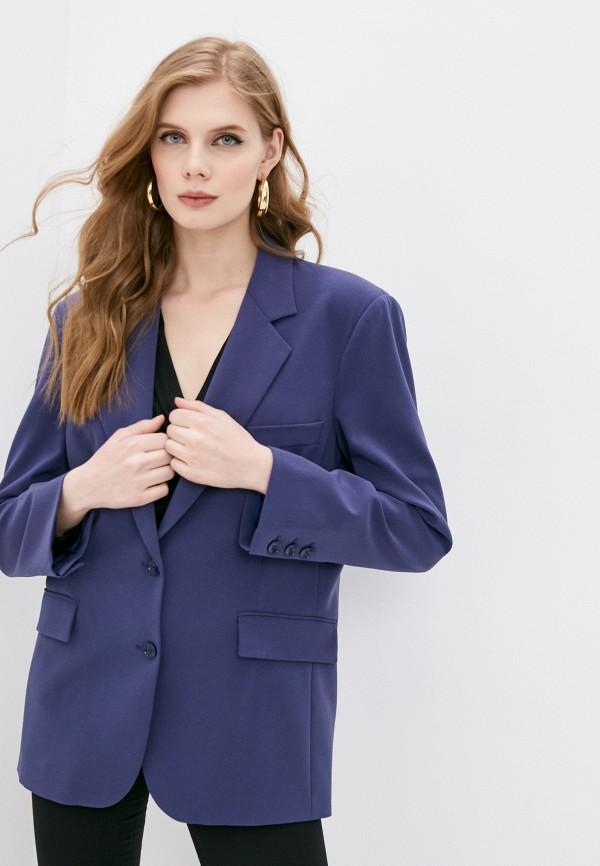 женский пиджак patrizia pepe, синий