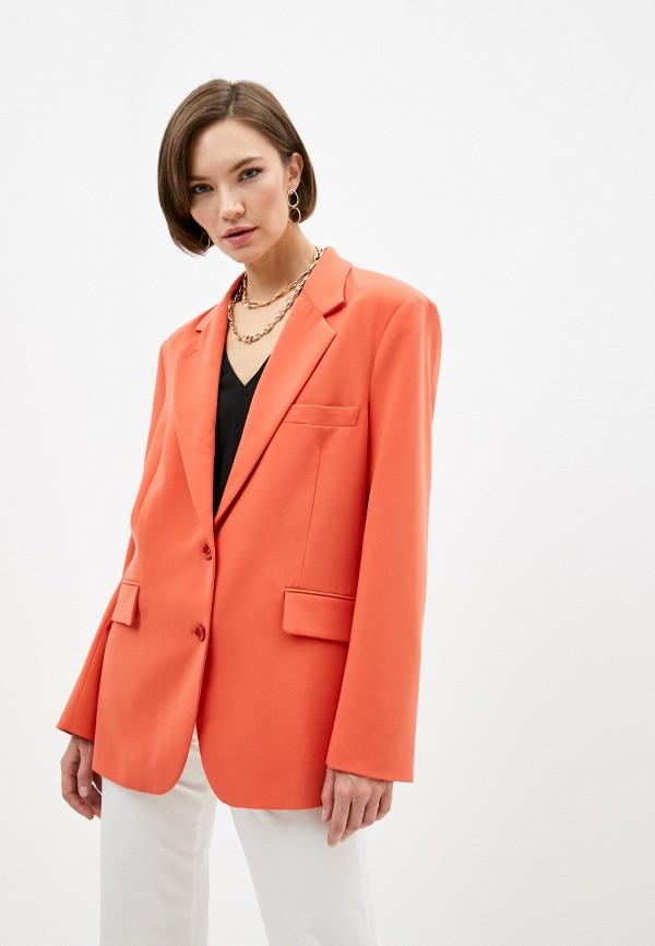 женский пиджак patrizia pepe, оранжевый