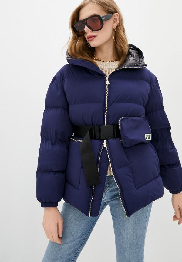 женская куртка patrizia pepe, синяя