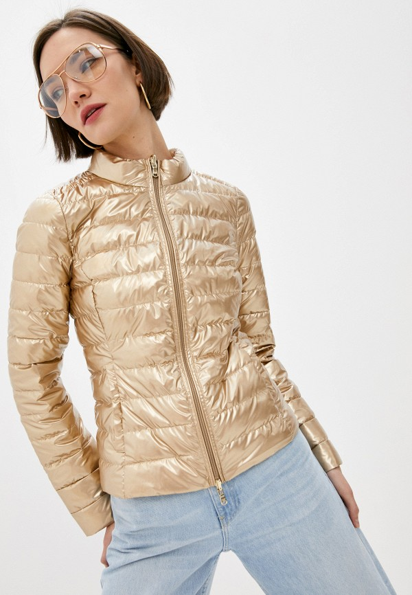 женская утепленные куртка patrizia pepe, золотая