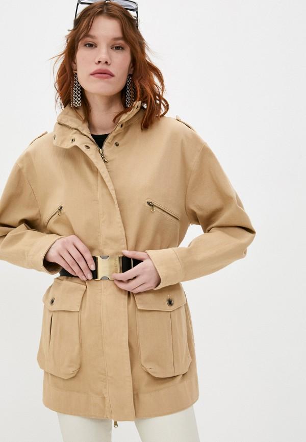 женская легкие куртка patrizia pepe, бежевая
