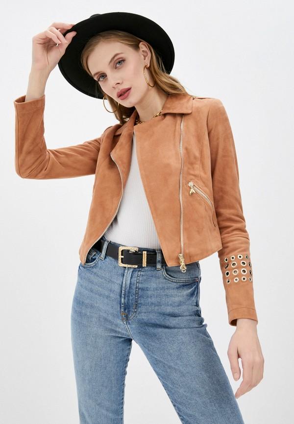 женская куртка patrizia pepe, коричневая