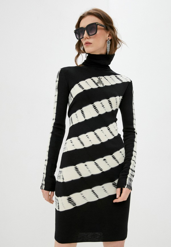 женское платье-свитеры patrizia pepe, черное