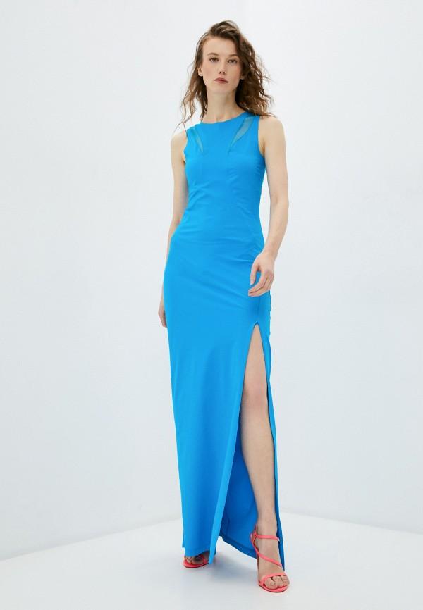 женское вечерние платье patrizia pepe, голубое