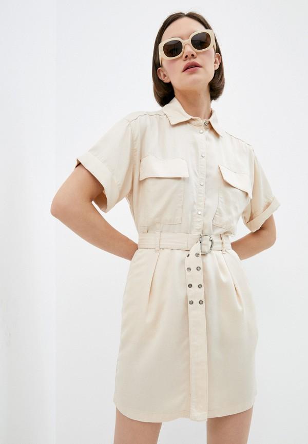 женское платье-рубашки patrizia pepe, бежевое