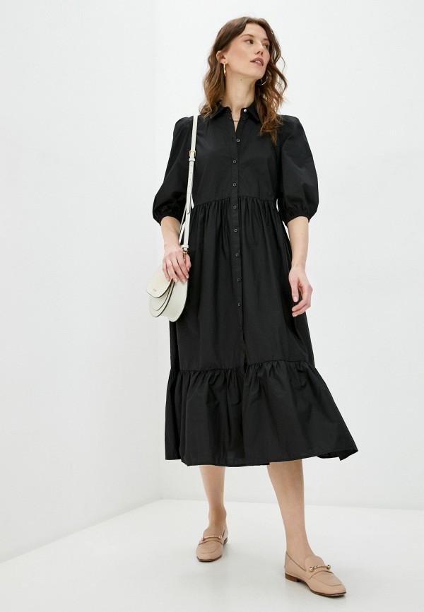 женское платье-рубашки patrizia pepe, черное