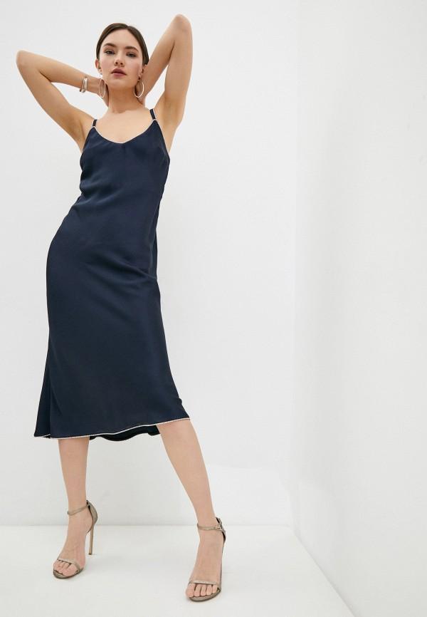 женское платье-комбинация patrizia pepe, синее