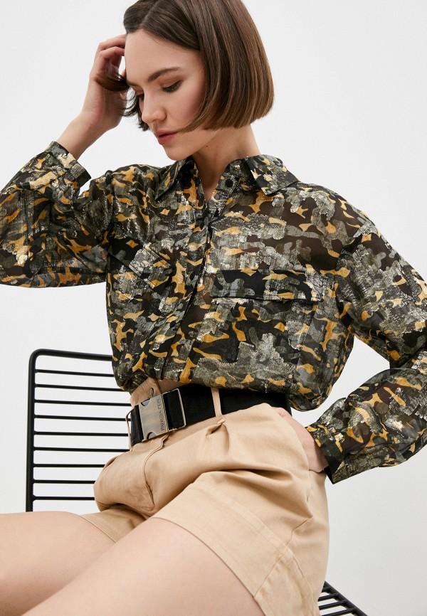 женская блузка с длинным рукавом patrizia pepe, разноцветная