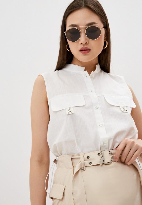 женская блузка без рукавов patrizia pepe, белая