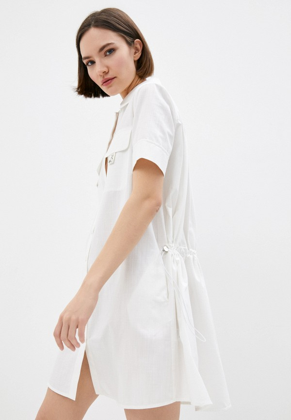 женское платье-рубашки patrizia pepe, белое