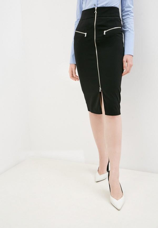 женская прямые юбка patrizia pepe, черная
