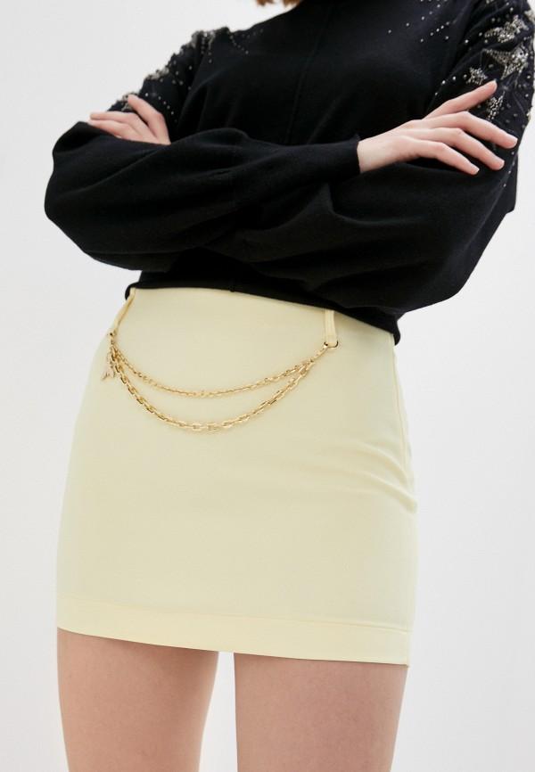 женская зауженные юбка patrizia pepe, желтая