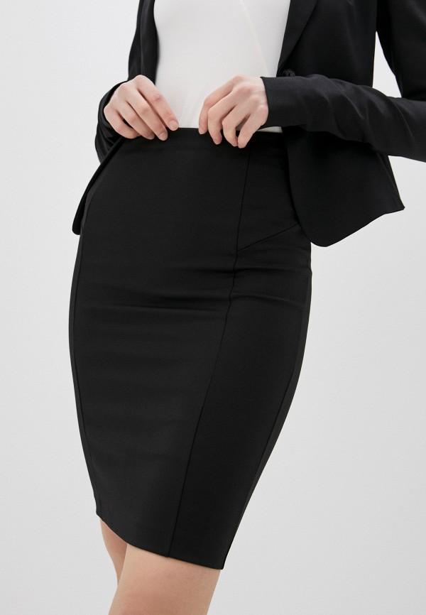 женская зауженные юбка patrizia pepe, черная