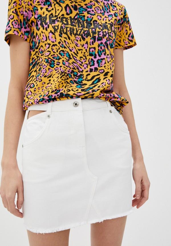 женская джинсовые юбка patrizia pepe, белая