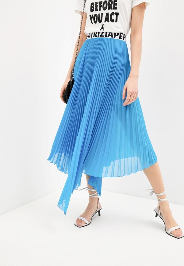 женская юбка patrizia pepe, голубая