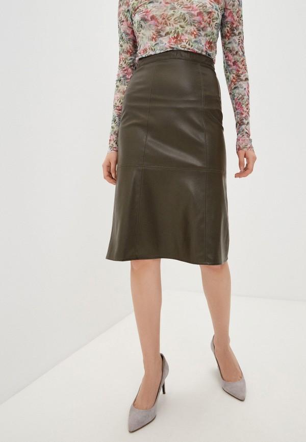 женская кожаные юбка patrizia pepe, хаки
