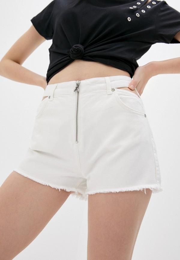 женские джинсовые шорты patrizia pepe, белые