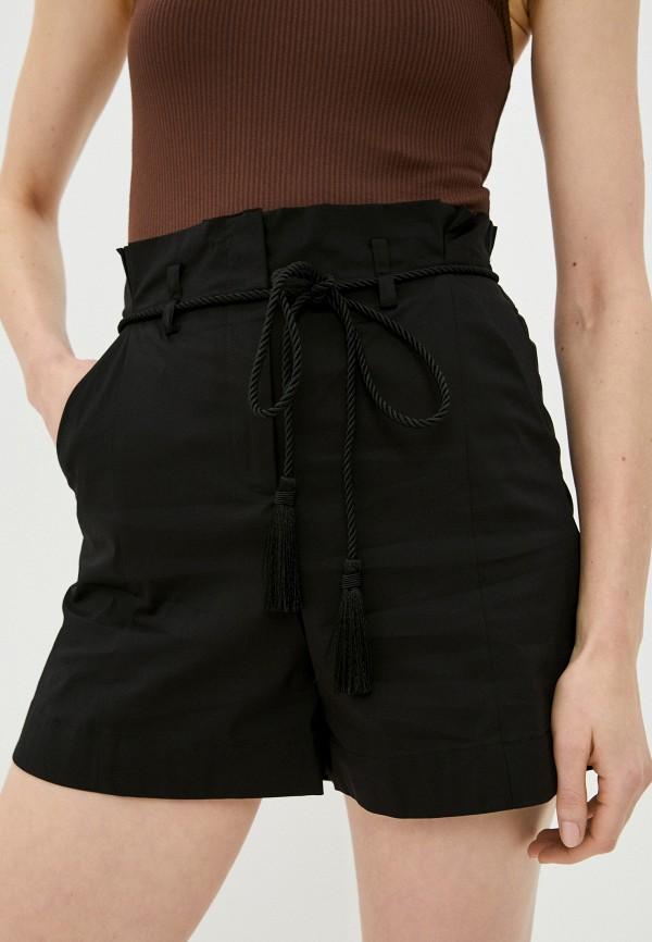 женские повседневные шорты patrizia pepe, черные