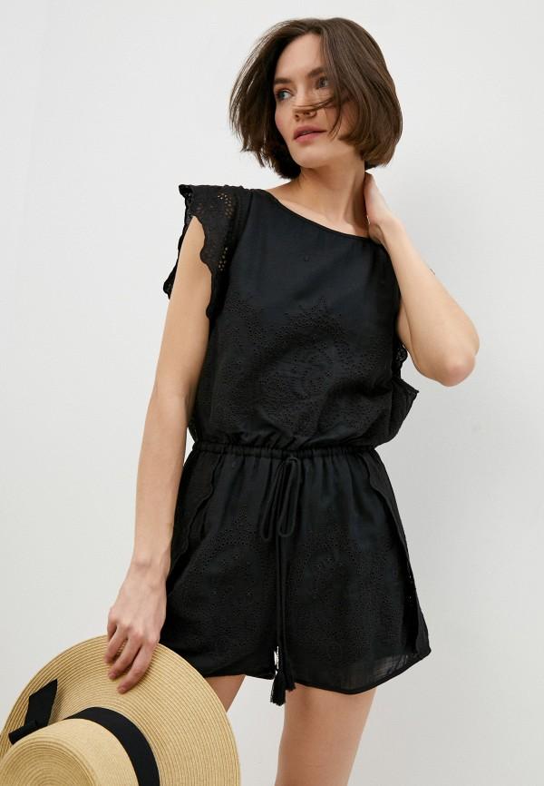 женский комбинезон с шортами patrizia pepe, черный
