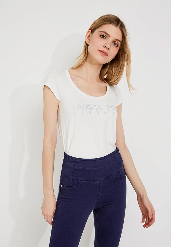 Фото 4 - женскую футболку Patrizia Pepe белого цвета