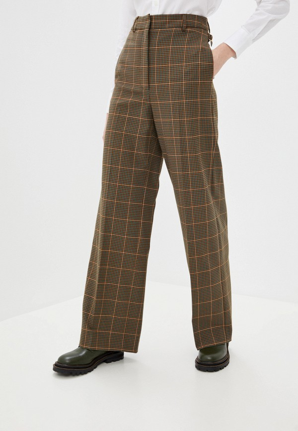 женские повседневные брюки paul & joe, коричневые