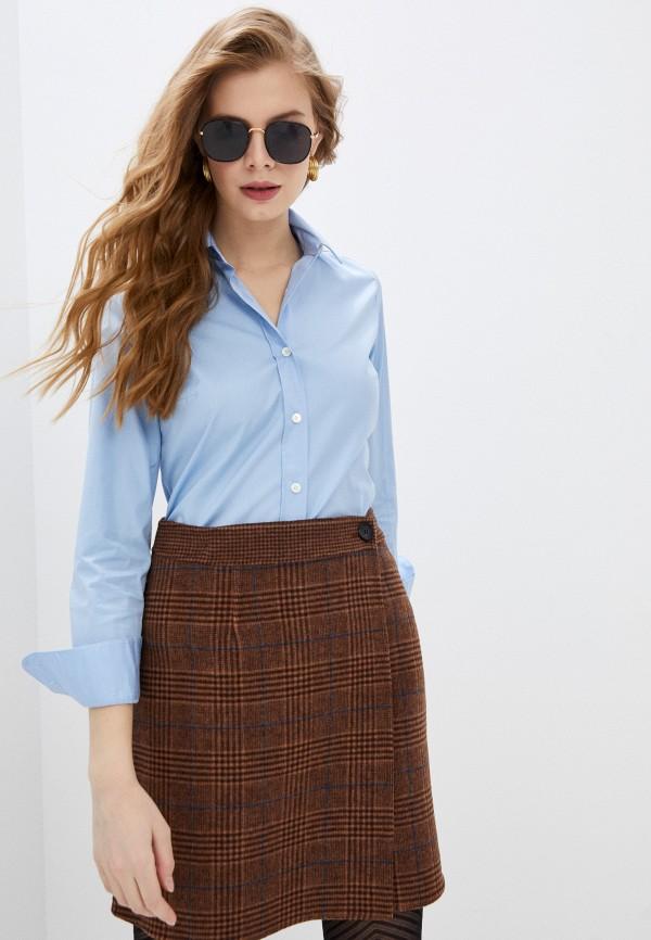 женская рубашка с длинным рукавом paul & joe, голубая