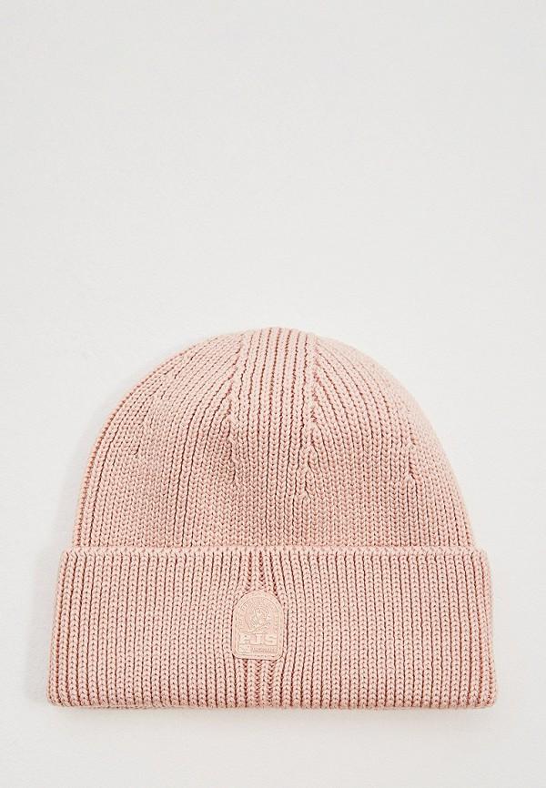 женская шапка parajumpers, розовая
