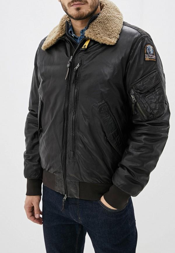 Фото - Куртку кожаная Parajumpers коричневого цвета