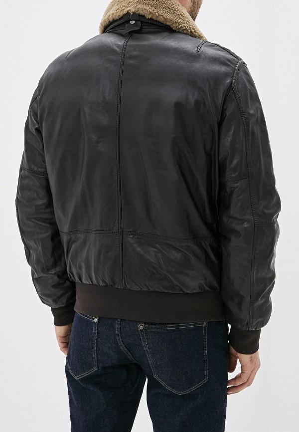 Фото 3 - Куртку кожаная Parajumpers коричневого цвета