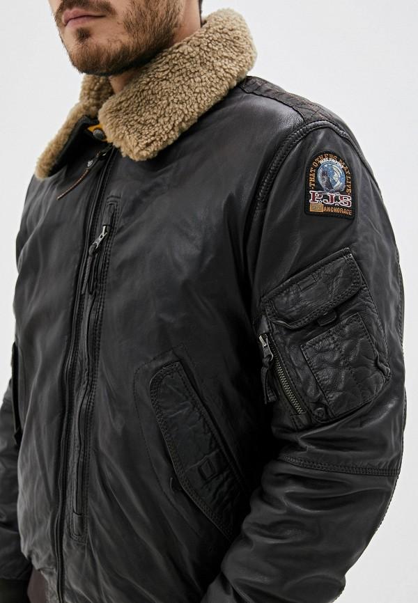 Фото 4 - Куртку кожаная Parajumpers коричневого цвета