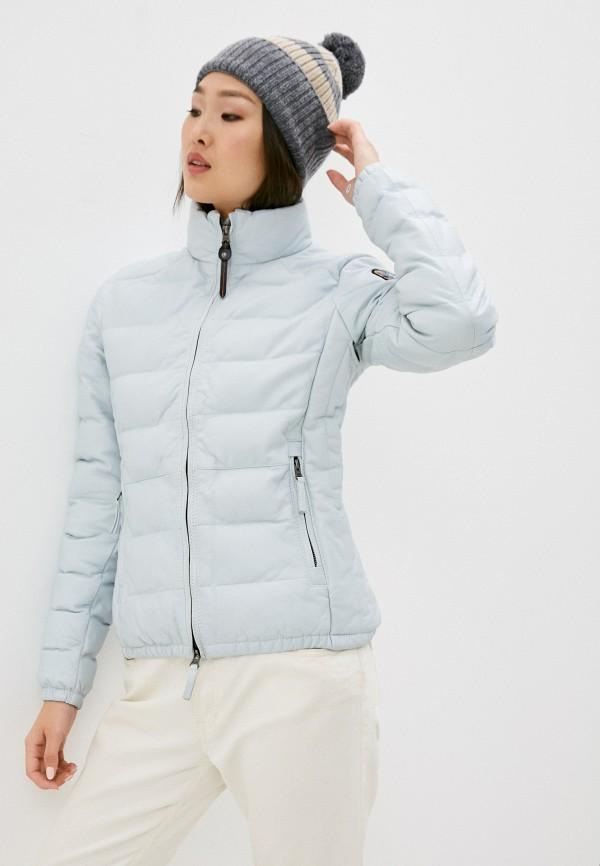 женская куртка parajumpers, голубая
