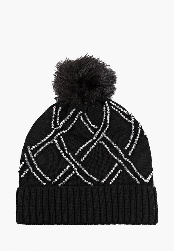 женская шапка pdk, черная