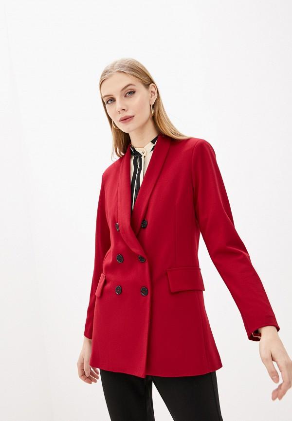 женский пиджак pdk, бордовый
