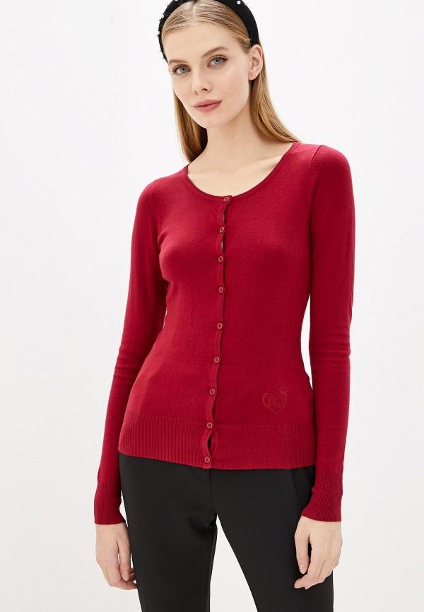 женский кардиган pdk, бордовый