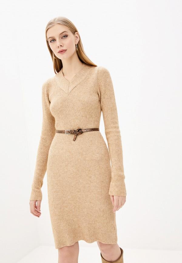 женское платье pdk, бежевое