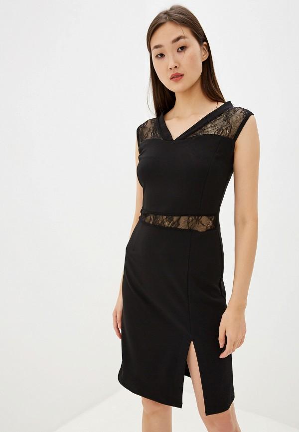 женское платье-футляр pdk, черное