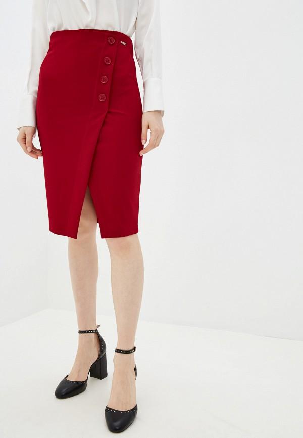 женская прямые юбка pdk, бордовая
